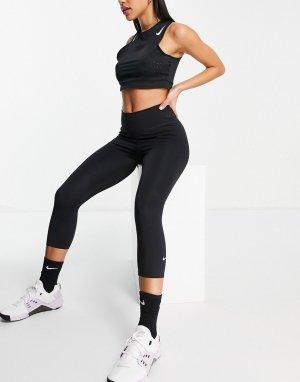 Черные укороченные леггинсы-капри 2.0-Черный Nike Training