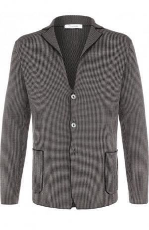 Однобортный хлопковый пиджак Cruciani. Цвет: бежевый