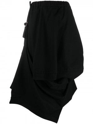 Юбка асимметричного кроя с пряжками Comme Des Garçons. Цвет: черный