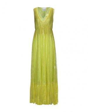 Длинное платье BRAND UNIQUE. Цвет: кислотно-зеленый