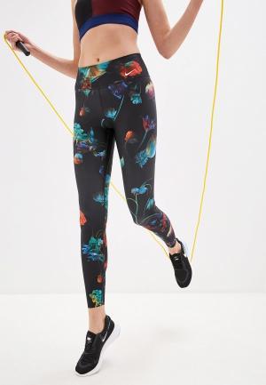 Тайтсы Nike POWER TIGHT FLORAL PRINT. Цвет: разноцветный