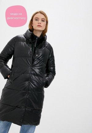 Куртка кожаная Moda Sincera. Цвет: черный