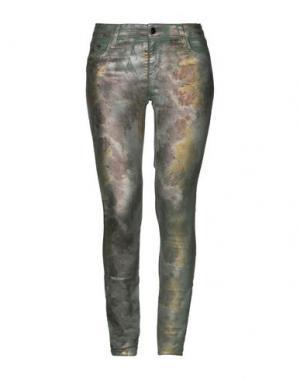 Джинсовые брюки 75 FAUBOURG. Цвет: зеленый-милитари