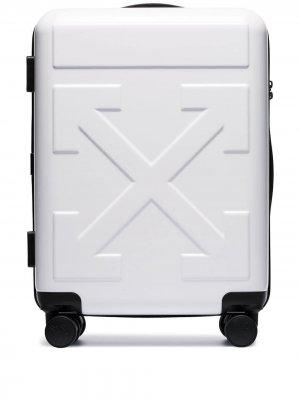 Чемодан For Travel на колесах Off-White. Цвет: белый