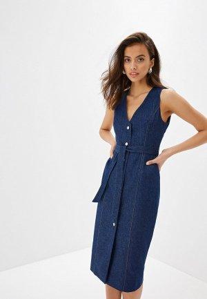 Платье джинсовое Lavamosco. Цвет: синий