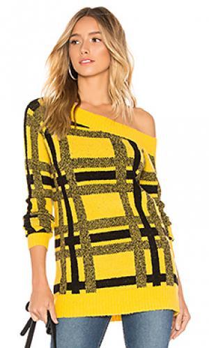 Пуловер с вырезами на плечах vernon Tularosa. Цвет: горчичный