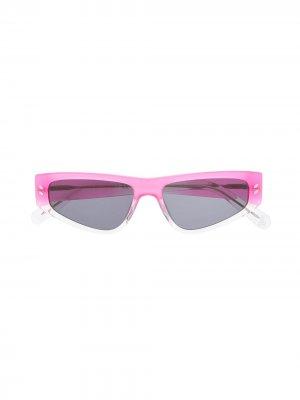 Солнцезащитные очки в прямоугольной оправе Stella McCartney Kids. Цвет: розовый
