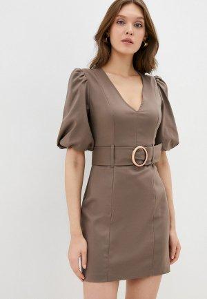Платье Kira Plastinina. Цвет: коричневый