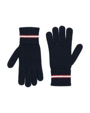 Перчатки BALLY. Цвет: темно-синий