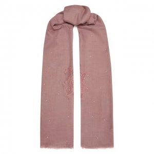 Шаль из шелка и шерсти Vintage Shades. Цвет: розовый