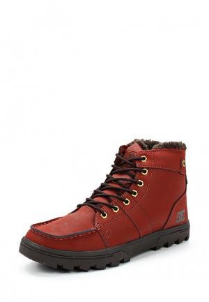 Ботинки DC Shoes WOODLAND. Цвет: бордовый