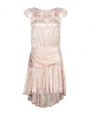 Короткое платье ANIYE BY. Цвет: светло-розовый