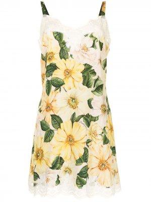 Сорочка с цветочным принтом Dolce & Gabbana. Цвет: разноцветный