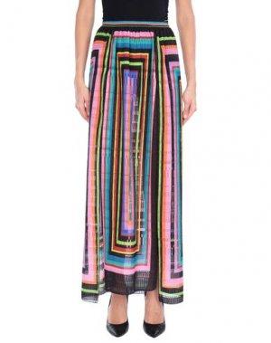 Длинная юбка AGOGOA. Цвет: черный