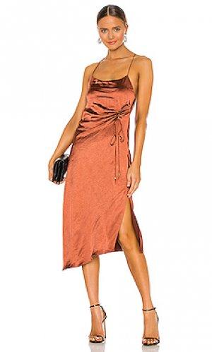 Платье aura Significant Other. Цвет: шоколадный