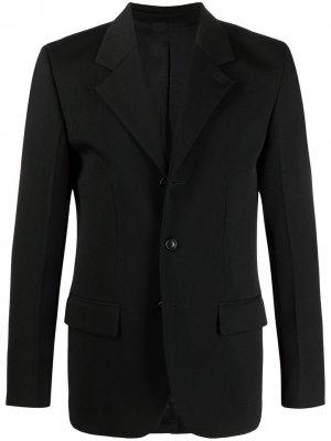 Однобортный пиджак строгого кроя AMI Paris. Цвет: черный