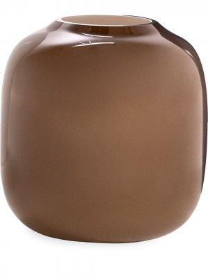 Ваза Arya закругленной формы (220 х 180 мм) Cappellini. Цвет: коричневый