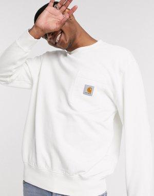 Светлый свитшот с карманом -Белый Carhartt WIP
