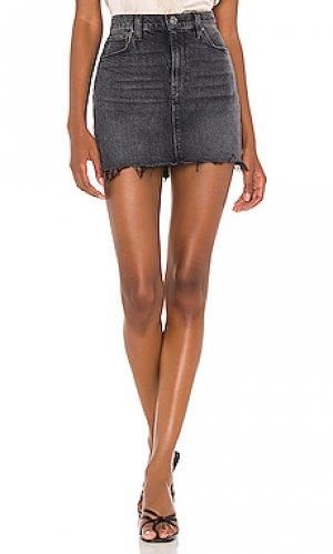 Юбка viper Hudson Jeans. Цвет: черный