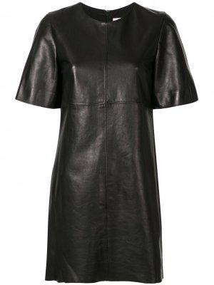 Платье с короткими рукавами Carolina Herrera. Цвет: черный