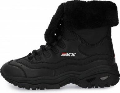 Кроссовки утепленные женские Energy - Cool Down, размер 37 Skechers. Цвет: черный