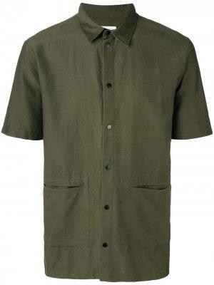 Рубашка с заостренным воротником Folk. Цвет: зеленый