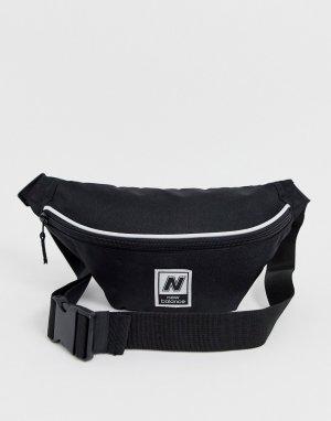 Черная классическая сумка-кошелек на пояс -Черный New Balance