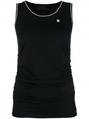 Strass embellished top Philipp Plein. Цвет: черный