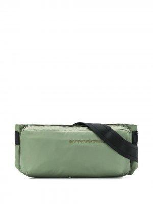 Поясная сумка с логотипом Diesel. Цвет: зеленый