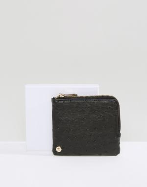 Черный кошелек для монет Mi-Pac. Цвет: черный