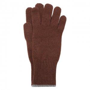 Кашемировые перчатки Brunello Cucinelli. Цвет: коричневый