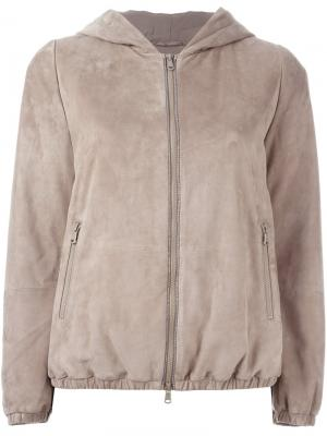 Zipped bomber jacket Brunello Cucinelli. Цвет: телесный