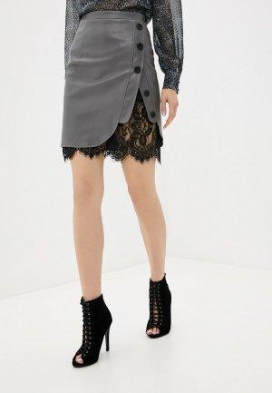 Юбка Gepur. Цвет: серый