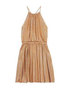 Платье до колена HALSTON. Цвет: золотистый
