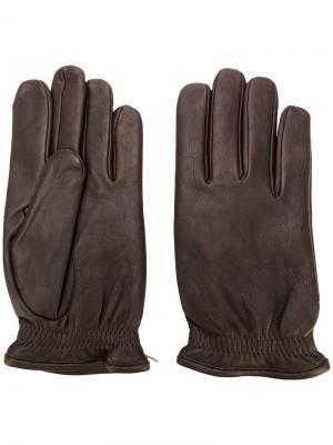 Облегающие перчатки Orciani. Цвет: коричневый
