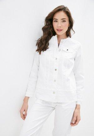 Куртка джинсовая Helmidge. Цвет: белый