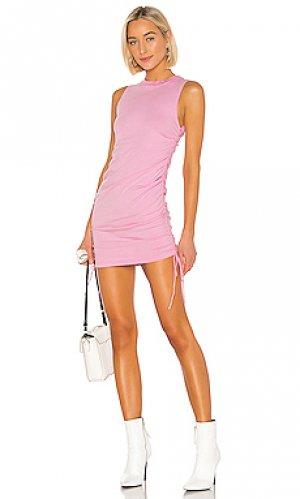 Мини платье lisbon COTTON CITIZEN. Цвет: розовый