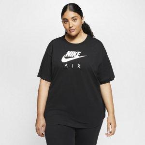 Женская футболка с коротким рукавом Sportswear Air (большие размеры) - Черный Nike