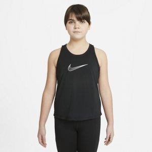 Майка для тренинга девочек школьного возраста Nike Dri-FIT Trophy (расширенный размерный ряд) - Черный