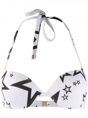 Star print bikini top Dolce & Gabbana. Цвет: белый