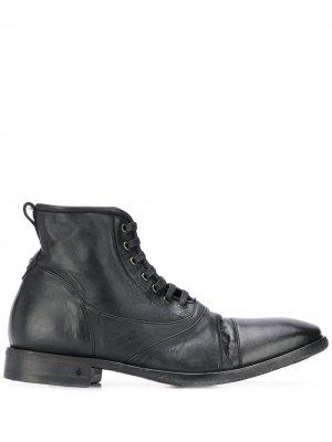Ботинки с эффектом потертости John Varvatos. Цвет: черный