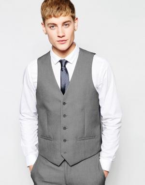 Серый жилет New Look. Цвет: серый