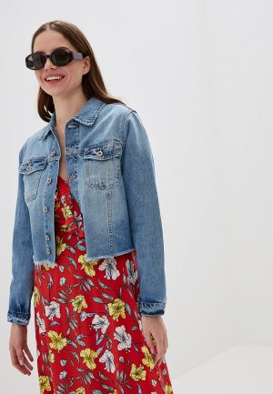 Куртка джинсовая Colins Colin's. Цвет: голубой