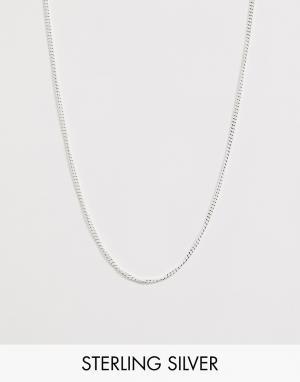 Короткое серебряное колье ASOS DESIGN. Цвет: серебряный