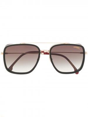 Солнцезащитные очки 207S в квадратной оправе Carrera. Цвет: черный