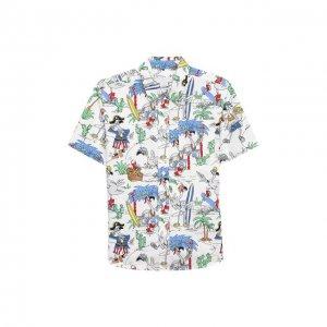 Хлопковая рубашка Stella McCartney. Цвет: разноцветный