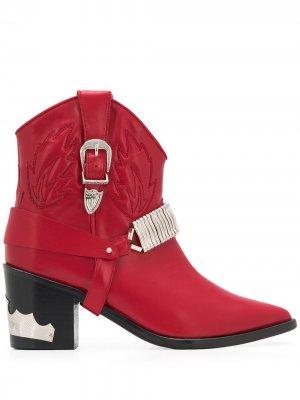 Ковбойские ботинки Toga Pulla. Цвет: красный