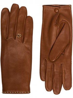 Перчатки Jeslyn с заклепками Agnelle. Цвет: коричневый
