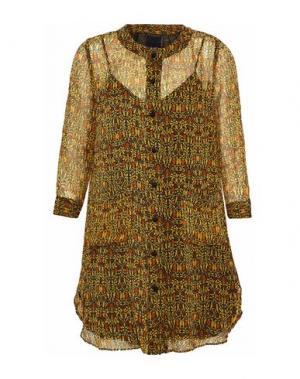 Короткое платье ANNA SUI. Цвет: охра