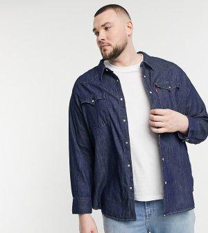 Красная выбеленная джинсовая рубашка в стиле вестерн Levis Big & Tall Barstow-Голубой Levi's